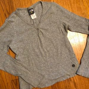 North Face Grey Crop Top